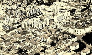 Centar Užica na samom početku sedamdesetih godina 20. veka