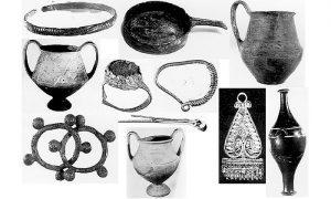 Fibule i mnoštvo drugih ukrasnih predmeta, nađenih u užičkom kraju