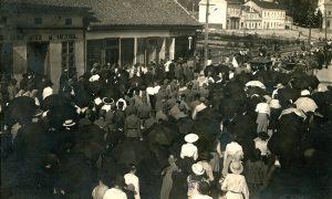 Sahrana srpskom vojniku Radoju Popoviću 20. jula 1917.