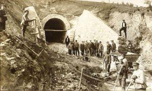 Radovi na pruzi, mart 1916