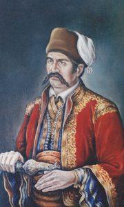 Serdar Jovan Mićić, rad Užičanke akademske slikarke Jelene Tijanić Savić