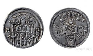 Krunidbeni dinar cara Dušana (foto Narodni muzej Srbije)
