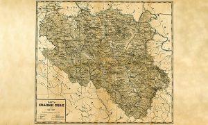 Karta Kraljevine Srbije, izradio Vladimir Karić 1888. (foto Digitalna Biblioteka Matice srpske)