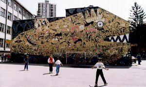 """Mural """"Riba koja je progutala ceo svet"""""""