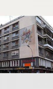 Mozaik - spomenica na zgradi na užičkom trgu