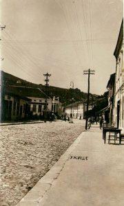 Užice, Glavna ulica u leto 1922. godine (fotografija iz privatne kolekcije Aleksandra Tošića)