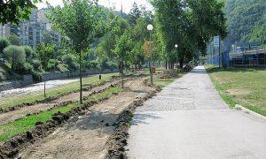 Veliki park danas, izgradnja trim staze (foto Užička nedelja)