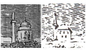 Šejhova džamija, obe verzije crteža
