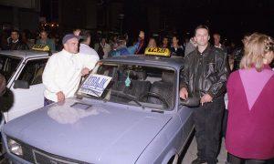 Protesti oktobra 2000te - štrajkuju i taksisti