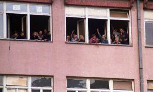 Protesti oktobra 2000te - dneveni protest u školama