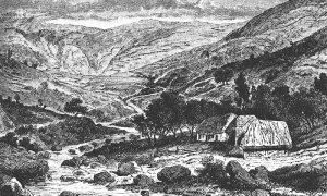 Seoska kuća u Užičkom kraju (Kanicova ilustracija)
