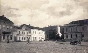 Pašićeve kuće, do njih kuća prote Gavrila, crkva, Gimnazija za vreme austrougarske okupacije tokom Prvog sv. rata