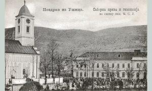 Narodni sabor na Trgu Svetoga Đorđa, razglednicu koju je snimio Rus Stolica, izdala je knjižara Ljubomira Romanovića 1910. godine