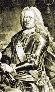 Grof Fridrih Hajnrih fon Zekendorf (mezzotinta J.J. Haida iz 1745.)