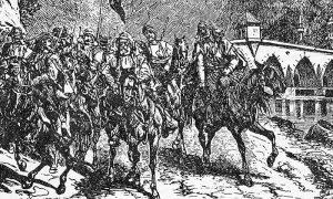 Kanicov crtež Turaka koji prelaze ćupriju na Drini
