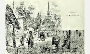 Mudirov konak 1860. godine (Kanicova skica)