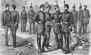 Srpski vojnici za vreme kralja Milana, Kanicova crtež