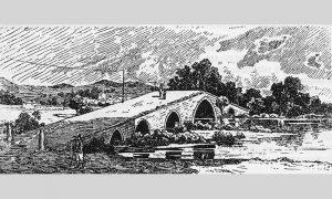 Kanicov crtež mosta kraj Požege na Skrapežu