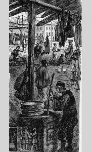 Požega, pijaca sa rimskim kamenom, Kanicov crtež