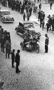 Početak parade za vreme proslave Oktobarske revolucije 1941. u Užicu