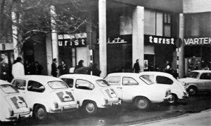 "Turist biro ""Rakete"" na Trgu sedamdesete godine 20. veka (foto Aleksandar Ristić)"