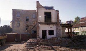 Rušenje objekta mlina na Rakijskoj