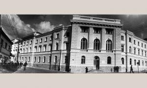 Zgrada Opštine, kako je video Ilija Lazić 1952. godine