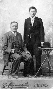 Milutin sa ocem Mijailom (arhiva Narodne biblioteke Užice)