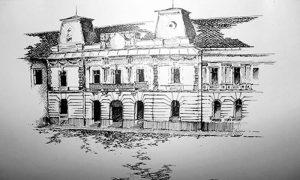 Crtež užička gimnazija u 19 veku. Nepoznati autor