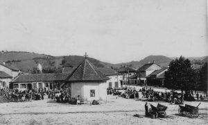 Stara pijaca – Žitna, u vreme Uskokovića (fotografija iz 1916.)