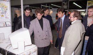 Ćole i Nešo tj. Multisoft na Sajmu knjiga u BG 1998. godine