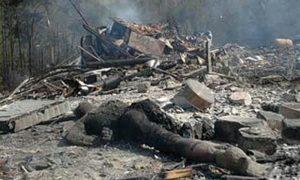 Jedna od žrtava snimljena posle bombardovanja Ski centra Tornik
