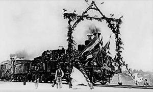 """Prva srpska lokomotiva """"Kralj Milan"""" kada je puštena u saobraćaj"""