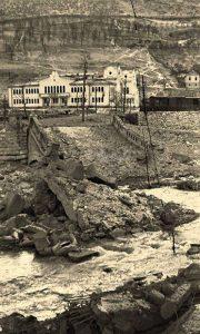 Sokolana 1944. godine na dan kada je miniran i srušen i Aleksandrov most
