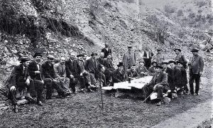Tokom izgradnje brane