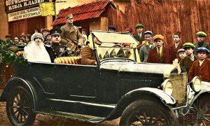 Na Lazićevoj fotografiji, bojanci Domanovića, Muto se za volanom ne vidi najbolje