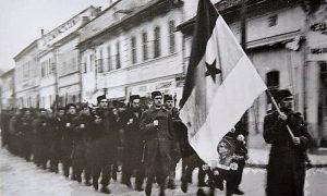 Partizani na proslavi Oktobarke revolucije tokom Užičke republike