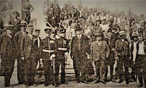 Članovi Odbora i gosti na svečanosti otvaranja Popove vode 1935.god. (kopirano iz starih novina)