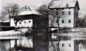 Dragova i Zrnjova vodenica u vreme dok su bile u funkciji, šezdesetih godina 20. veka