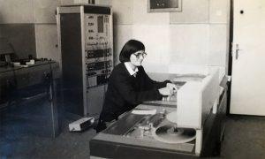 Tehnički urednik radija, Vinka Milićević (fotografiju dostavila Danijela Jovanović)