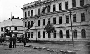 Gašenje požara na Gimnaziji 1956.