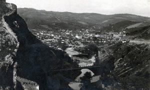 Panorama Užica sa Đulajića mostom (fotografija Ilije Lazića pred Drugi svetski rat)