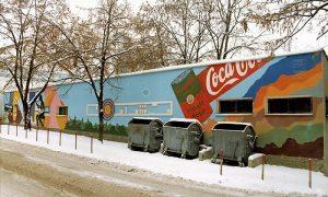 Mural na nekadašnjoj streljani krajem devedesetih