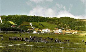 Krčagovo, gde su se održavale konjičke trke (obojio Z. Domanović)