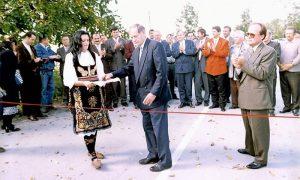 Otvaranje obnovljene deonice za Lunovo Selo 1996.