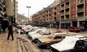 """Glavna ulica, kod """"Simpa"""", januar 2000."""