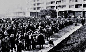 Doček štafete na Trgu 1981. (foto Dulanovićev sin)