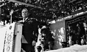 Tito za govornicom na Trgu, 1950. god.