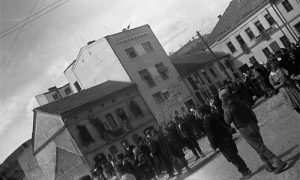 Прљова зграда на дан кад су 1944. ушли партизани у слободно Ужице