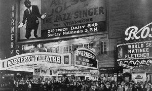 Reklama za prvi ton film u Njujorku
